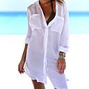 abordables Vêtements de Fitness, de Course et de Yoga-Femme Basique Encolure plongeante Blanc Tanga Vêtement couvrant Maillots de Bain - Couleur Pleine Taille unique Blanc