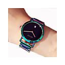 hesapli Kadın Saatleri-Kadın's Elbise Saat Çince Kronograf Paslanmaz Çelik Bant Günlük Yeşil / Sony 377