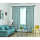 cheap Blackout Curtains-Blackout Curtains Drapes Kids Room Geometric / Cartoon / Contemporary Polyester Printed