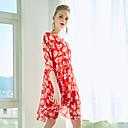 זול חולצות לבנות-מעל הברך גיאומטרי - שמלה סווינג בגדי ריקוד נשים