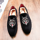 cheap Men's Boat Shoes-Men's Shoes Suede Fall Formal Shoes Loafers & Slip-Ons Black / Red