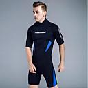 ieftine Neopren, Costume de scafandru & Bluză Protecție-Bărbați Neopren Scurt 3mm CR Neopren Costume de scafandru Design Anatomic Manșon Jumate Fermoar Spate Grafic Vară