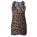 cheap Men's & Women's Halloween Costumes-Women's Babydoll & Slips Nightwear - Lace, Leopard