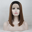 cheap Sprinkle® Faucets-Synthetic Lace Front Wig / Ombre Matte Golden Middle Part Synthetic Hair Color Gradient / Best Quality / Middle Part Golden / Black Wig Women's Short Lace Front