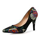 ieftine Pantofi Joși de Damă-Pentru femei Pantofi Mătase Primavara vara Balerini Basic Tocuri Toc Stilat Negru / Fucsia / Nuntă / Party & Seară / Party & Seară