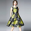 cheap Party Headpieces-SHIHUATANG Women's Vintage Street chic A Line Dress - Floral Print