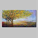 זול ציורי נוף-ציור שמן צבוע-Hang מצויר ביד - מופשט L ו-scape מודרני כלול מסגרת פנימית / בד מתוח