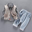 ieftine Pantaloni Băieți-Copil Băieți Plisat Manșon Lung Set Îmbrăcăminte