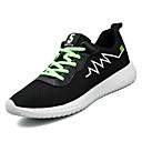 זול נעלי ספורט לגברים-בגדי ריקוד גברים טול / PU סתיו נוחות נעלי אתלטיקה ריצה קולור בלוק לבן / שחור