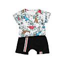 ieftine Set Îmbrăcăminte Bebeluși-Bebelus Unisex Imprimeu Manșon scurt Set Îmbrăcăminte