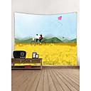 رخيصةأون اللوحات الجدارية-الحديقةGarden Theme الدراجة جدار ديكور البوليستر معاصر الحديث جدار الفن, سجاد الحائط زخرفة
