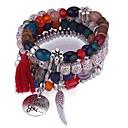 ieftine Seturi de bijuterii-Pentru femei Tanzanite sintetice În Straturi Grămadă Bratari Strand - Vintage, Modă, Multistratificat Brățări Gri / Curcubeu / Albastru Pentru Ceremonie Birou și carieră / 4 buc
