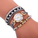 hesapli Moda Saatler-Xu™ Kadın's Bilezik Saat / Bilek Saati Çince Yaratıcı / Gündelik Saatler / Çok güzel PU Bant Bohem / Moda Siyah / Beyaz / Mavi