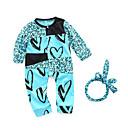 ieftine Set Îmbrăcăminte Bebeluși-Bebelus Fete De Bază Geometric Manșon Lung Bumbac Salopetă