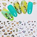 tanie Naklejki na paznokcie-2 pcs Naklejki Sztuka zdobienia paznokci Manikiur pedikiur Kolorowy Kalkomanie do paznokci Ślub / Impreza / Na co dzień