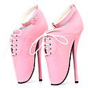 ieftine Tocuri de Damă-Pentru femei Pantofi PU Primavara vara Noutăți Tocuri Toc Stilat Vârf rotund Cataramă Mov / Rosu / Roz / Party & Seară