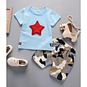 ieftine Seturi Îmbrăcăminte Băieți-Copil Băieți Activ Geometric / Imprimeu Imprimeu Manșon scurt Scurt Bumbac Set Îmbrăcăminte
