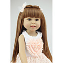cheap Masks-NPKCOLLECTION NPK DOLL Fashion Doll Country Girl 18 inch Full Body Silicone Silicone - Eco-friendly Gift Child Safe Non Toxic Tipped and Sealed Nails Natural Skin Tone Kid's Girls' Toy Gift