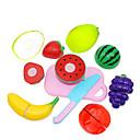 baratos Acessórios de Cozinha & Comida de Brinquedo-Conjuntos Toy Cozinha Brinquedos de Faz de Conta Cortadores de Frutas e Vegetais Frutas e Vegetais Criativo Novidades Plástico Para