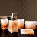 baratos Prateleiras e Suportes-Jogo de Acessórios para Banheiro Cores Gradiente Modern Resina 5pçs - Banheiro Solteiro (L150 cm x C200 cm)