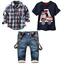 ieftine Seturi Îmbrăcăminte Băieți-Copii Băieți Imprimeu / Plisat Manșon scurt / Manșon Lung Set Îmbrăcăminte