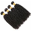 halpa Aitohiusperuukit-4 pakettia Perulainen Kihara 8A Aidot hiukset Hiukset kutoo Pidentäjä Bundle Hair 8-28 inch Musta Luonnollinen väri Hiukset kutoo Pehmeä Kudottu Luonnollinen Hiukset Extensions Unisex