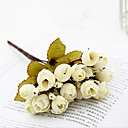 halpa Tekokukat-Keinotekoinen Flowers 1 haara Klassinen Vintage Pastoraali Tyyli Ruusut Camellia Pöytäkukka