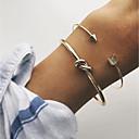 ieftine Cercei la Modă-Pentru femei Brățări Bantă - Cercul Twist Simplu, Clasic, Modă Brățări Auriu Pentru Petrecere Dată Concediu / 2pcs