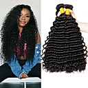 cheap Human Hair Capless Wigs-4 Bundles Malaysian Hair Deep Wave 8A Human Hair Natural Color Hair Weaves / Hair Bulk Extension Bundle Hair 8-28 inch Natural Natural Color Human Hair Weaves Silky Smooth Extention Human Hair