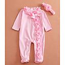 tanie Topy dla niemowląt-Dziecko Unisex Podstawowy Solidne kolory Długi rękaw Bawełna Ogrodniczki / kombinezon / Brzdąc
