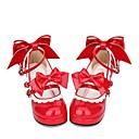 povoljno Lolita obuća-Cipele Sweet Lolita Classic / Tradicionalna Lolita Princess Lolita Kockasta potpetica Cipele Šivena čipka 6.5 cm CM Srebrna Za PU Halloween kostime