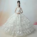 ieftine Accesorii de Barbie-Nuntă Rochii Pentru Barbie Doll Dantelă Satin Rochie Pentru Fata lui păpușă de jucărie