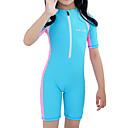 tanie Stroje kąpielowe dla dziewczynek-Dzieci Dla dziewczynek Aktywny / Seksowny Sport / Plaża Solidne kolory Krótkie rękawy Bawełna / Akryl Kąpielówki Czerwony 140