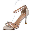 ieftine Tocuri de Damă-Pentru femei Pantofi PU Vară Pantofi pe Gleznă Sandale Toc Stilat Ținte Bej / Rosu / Roz / Party & Seară