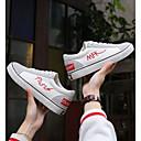 cheap Women's Sandals-Unisex Shoes Canvas Spring Comfort Sneakers Flat Heel Round Toe White / Black / Slogan