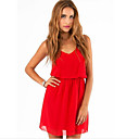 cheap Bracelets-Women's Chiffon Dress - Solid Colored V Neck / Summer