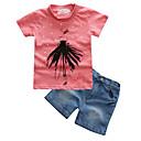 ieftine Set Îmbrăcăminte Bebeluși-Bebelus Fete Șic Stradă Sport / Concediu Geometric Manșon scurt Bumbac Set Îmbrăcăminte / Copil