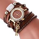 abordables Botas de Mujer-Mujer Reloj Pulsera Chino Reloj Casual / Encantador / La imitación de diamante PU Banda Bohemio / Elegante Negro / Blanco / Azul / Un año