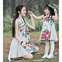 ieftine Set Îmbrăcăminte De Familie-Mama și cu mine De Bază Floral Fără manșon Rochie