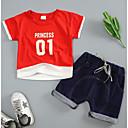 ieftine Set Îmbrăcăminte Băieți Bebeluși-Bebelus Unisex Imprimeu Manșon scurt Set Îmbrăcăminte
