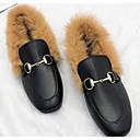 tanie Damskie klapki i japonki-Damskie PU Jesień Wygoda Mokasyny i buty wsuwane Niski obcas Beżowy / Brązowy