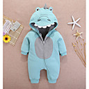 cheap Baby Girls' One-Piece-Baby Unisex Basic Color Block Long Sleeve Cotton Romper Green / Toddler
