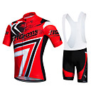 cheap Running Shirts, Pants & Shorts-21Grams Men's / Women's Short Sleeve Cycling Jersey with Bib Shorts - Red Bike Clothing Suit, 3D Pad, Quick Dry, Breathable Polyester, Lycra / Stretchy / Sweat-wicking