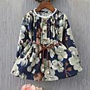 ieftine Rochii Fete-Copii Fete Floral Manșon Lung Rochie