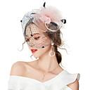 cheap Party Headpieces-Women's Vintage / Elegant Hair Clip / Fascinator - Solid Colored Flower / Mesh
