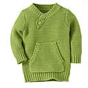 ieftine Set Îmbrăcăminte Băieți Bebeluși-Bebelus Băieți De Bază Mată Manșon Lung Bumbac Sfeter & Cardigan Albastru piscină 100 / Copil