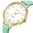 ieftine Ceasuri La Modă-Geneva Pentru femei Ceas Elegant Ceas de Mână Quartz Model nou Ceas Casual Cool Piele Bandă Analog Casual Modă Negru / Maro / Pink - Maro Verde Roz Un an Durată de Viaţă Baterie