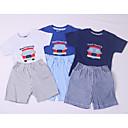 ieftine Set Îmbrăcăminte Băieți Bebeluși-Bebelus Băieți Activ Zilnic Imprimeu Manșon scurt Regular Regular Bumbac Set Îmbrăcăminte Albastru piscină / Copil