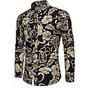 halpa Miesten korut-miesten paita - kukkainen kauluspaita