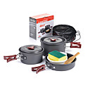 cheap Camping Tools, Carabiners & Ropes-Naturehike Camping Cookware Mess Kit / Camping Kettle / Camping Pot Outdoor Lightweight / Case Included / Folding Hard Alumina Outdoor for Camping Dark Grey
